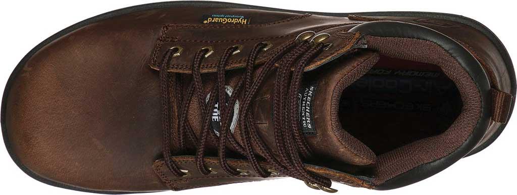 Men's Skechers Work Argum ST WP Boot, Chocolate Dark Brown, large, image 4