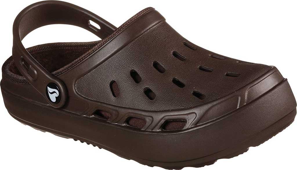Women's Skechers Foamies Swifters Stay Warm Clog, Chocolate, large, image 1
