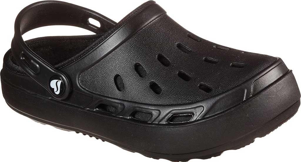 Women's Skechers Foamies Swifters Stay Warm Clog, Black/Black, large, image 1