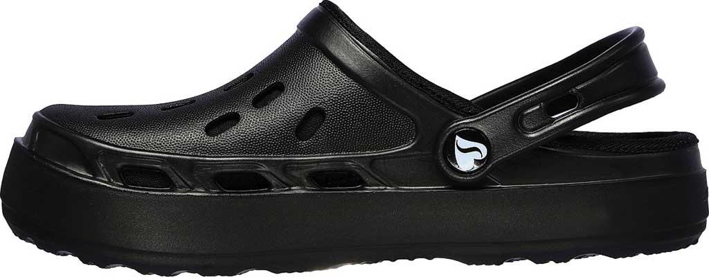 Women's Skechers Foamies Swifters Stay Warm Clog, Black/Black, large, image 3