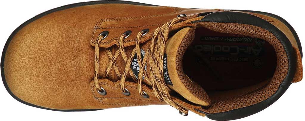Men's Skechers Work Argum Alkova ST WP Boot, Brown/Tan, large, image 4