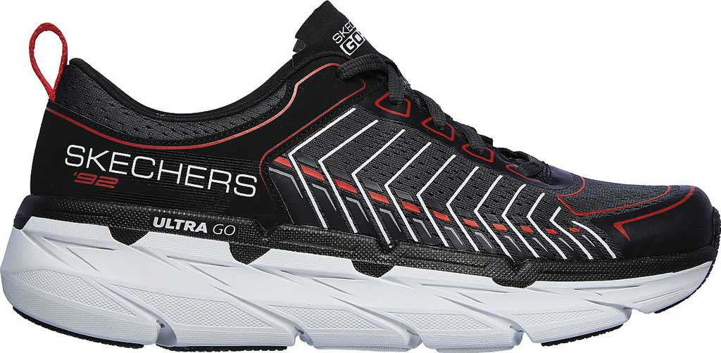 Men's Skechers Max Cushioning Premier Endeavour Sneaker, Black/White/Red, large, image 2