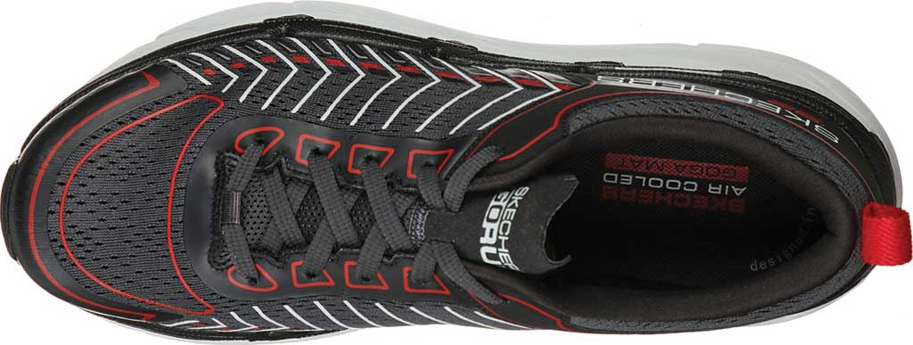 Men's Skechers Max Cushioning Premier Endeavour Sneaker, Black/White/Red, large, image 4