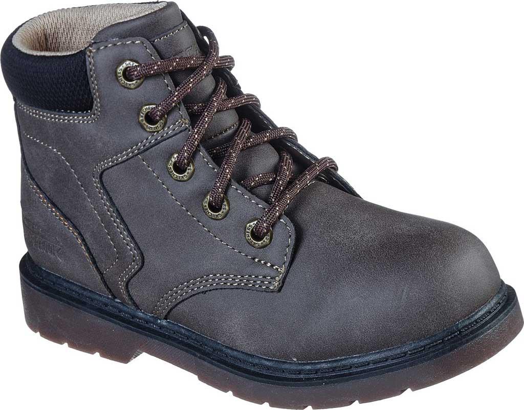 Boys' Skechers Rivitz Bardley Waterproof Ankle Boot, Chocolate, large, image 1