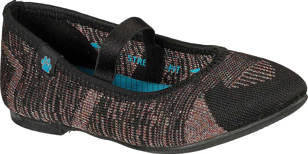 Girls' Skechers Cleo Beyond Beautiful Mary Jane, Black/Multi, large, image 1