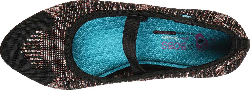 Girls' Skechers Cleo Beyond Beautiful Mary Jane, Black/Multi, large, image 4