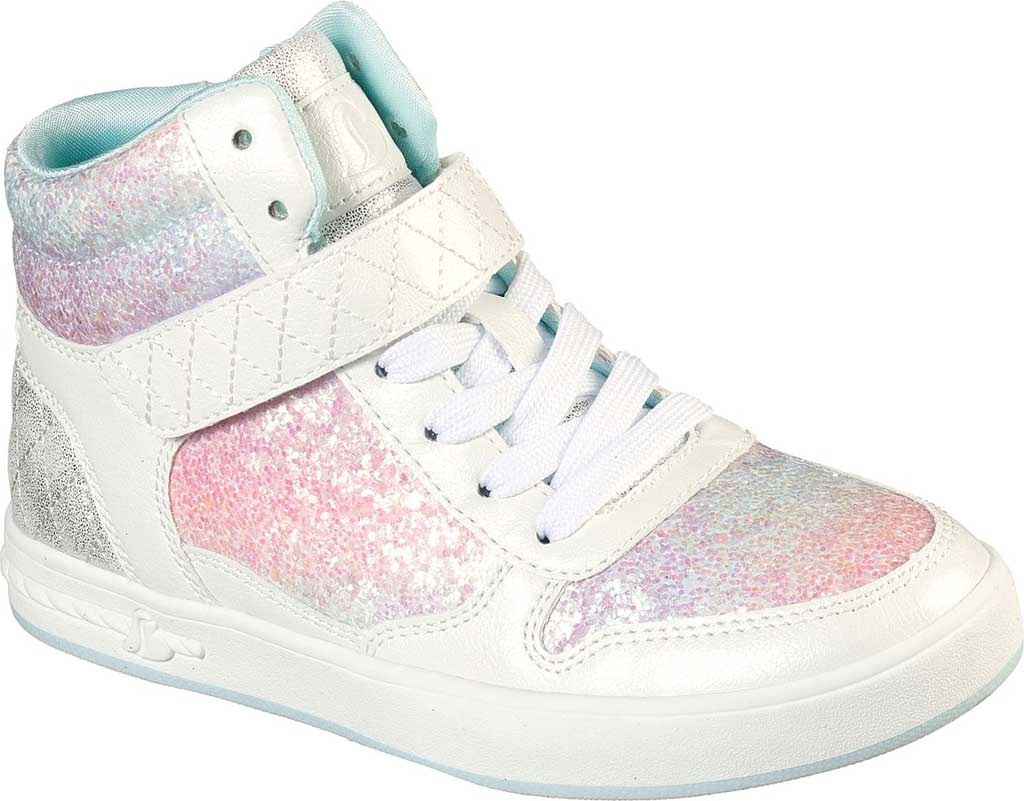 Girls' Skechers Standouts Mid Top Sneaker, White/Multi, large, image 1