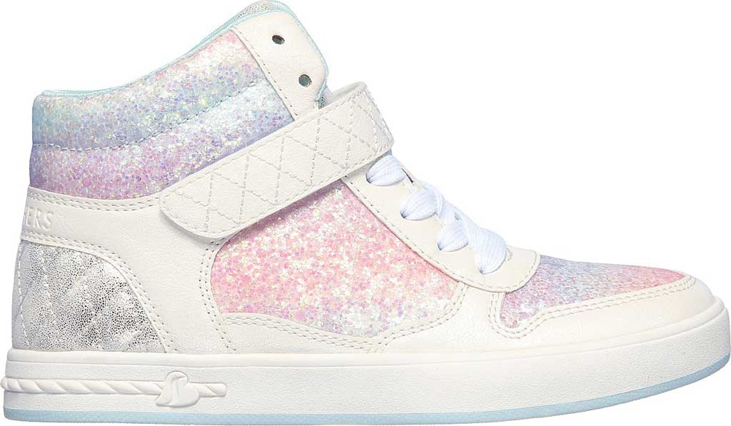 Girls' Skechers Standouts Mid Top Sneaker, White/Multi, large, image 2