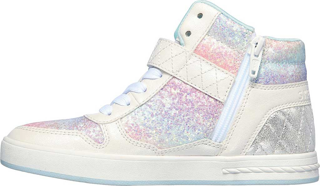 Girls' Skechers Standouts Mid Top Sneaker, White/Multi, large, image 3