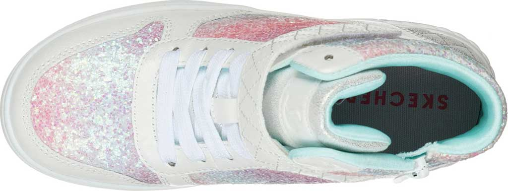 Girls' Skechers Standouts Mid Top Sneaker, White/Multi, large, image 4