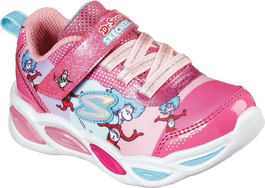 Infant Girls' Skechers Dr. Seuss Shimmer Beams Funtime With Things Shoe, Pink/Multi, large, image 1