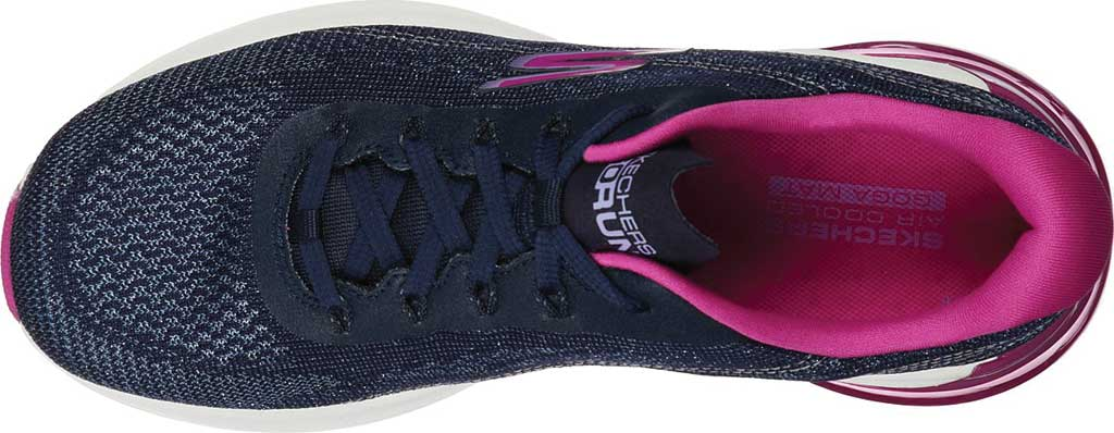 Women's Skechers GOrun Air Silver Sparkle Trainer, Navy/Pink, large, image 4