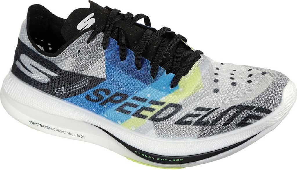 Men's Skechers GOrun Speed Elite Hyper Running Sneaker, Black/Blue, large, image 1