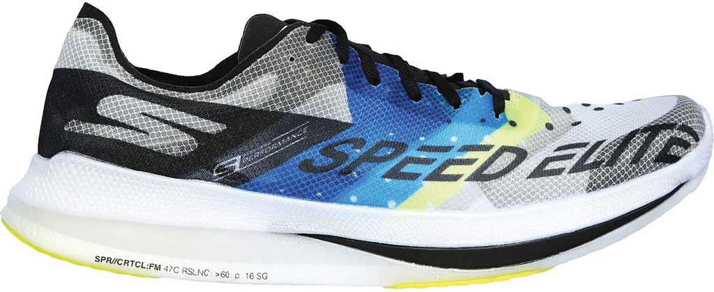 Men's Skechers GOrun Speed Elite Hyper Running Sneaker, Black/Blue, large, image 2