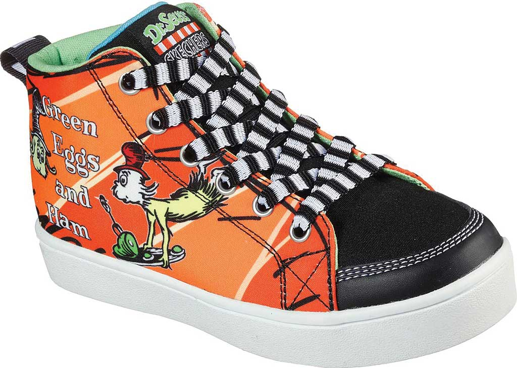 Boys' Skechers Dr. Seuss Duratronz SeussWorld High Top Sneaker, Orange/Multi, large, image 1