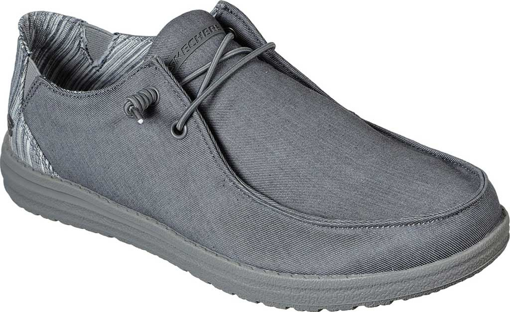 Men's Skechers Relaxed Fit Melson Aveso Moc Toe Slip On, Grey, large, image 1