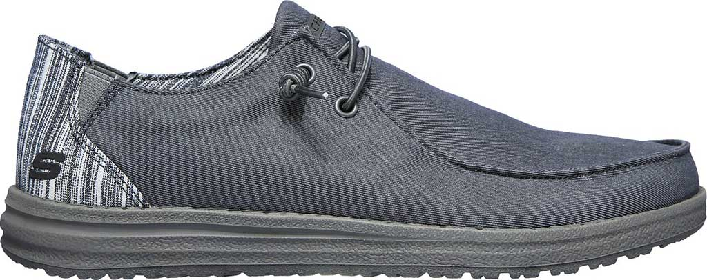 Men's Skechers Relaxed Fit Melson Aveso Moc Toe Slip On, Grey, large, image 2