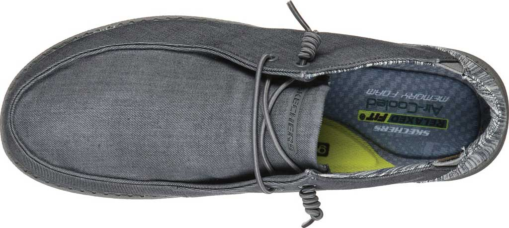Men's Skechers Relaxed Fit Melson Aveso Moc Toe Slip On, Grey, large, image 4