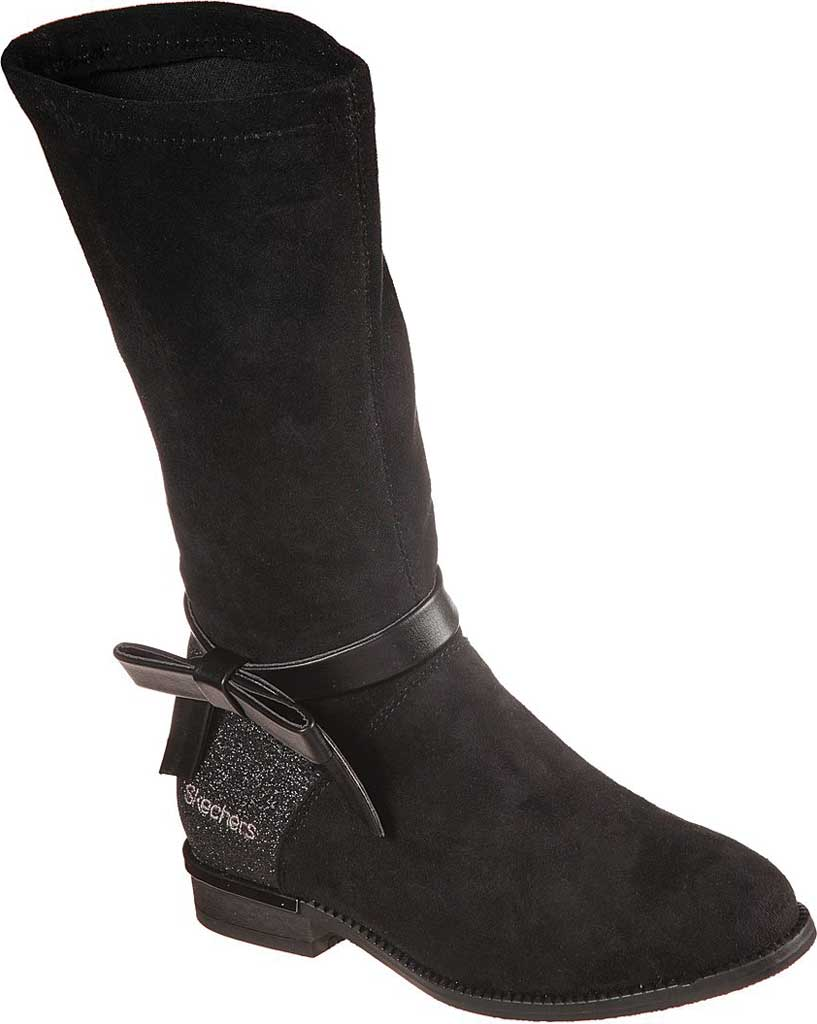 Girls' Skechers Mad Sass Downtown Diva Tall Boot, Black, large, image 1