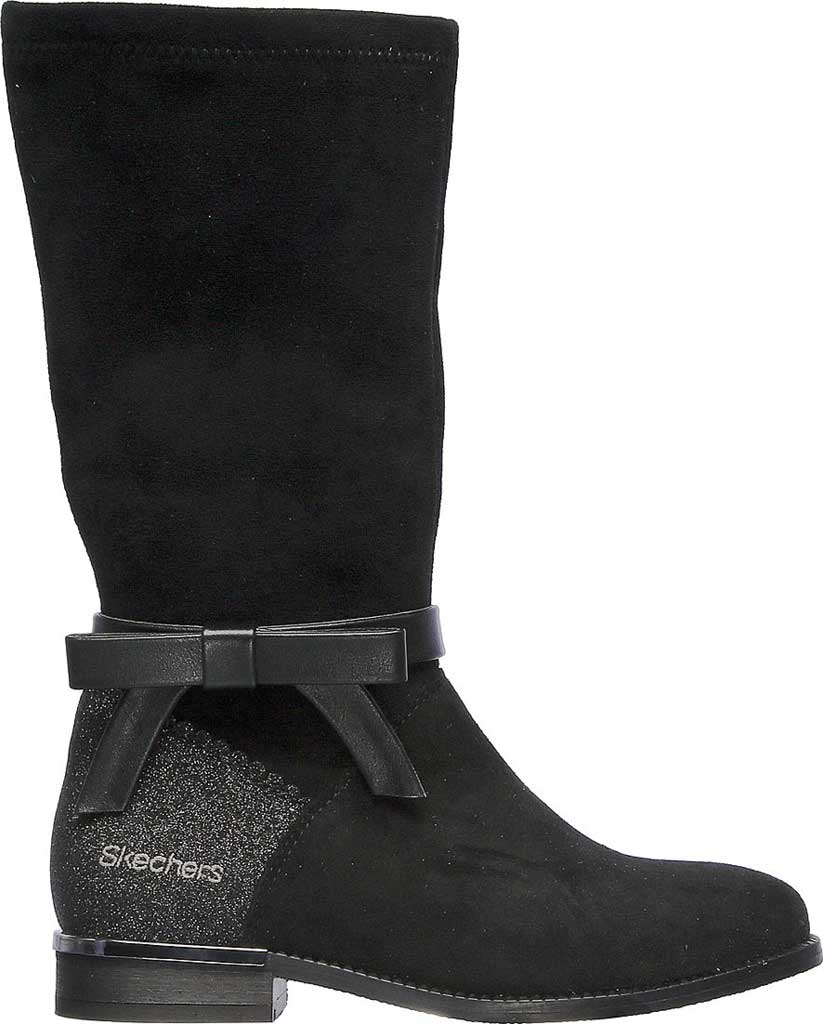 Girls' Skechers Mad Sass Downtown Diva Tall Boot, Black, large, image 2
