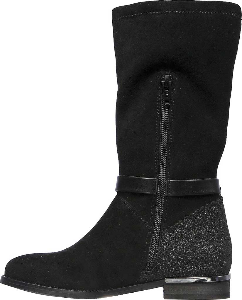 Girls' Skechers Mad Sass Downtown Diva Tall Boot, Black, large, image 3