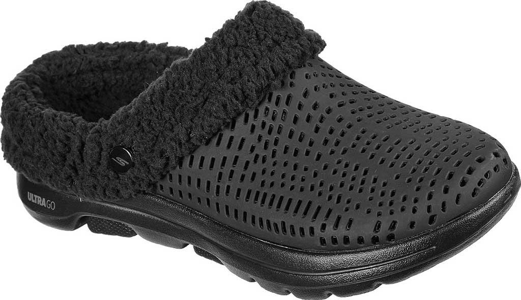 Women's Skechers Foamies GOwalk 5 Relax Clog, Black/Black, large, image 1