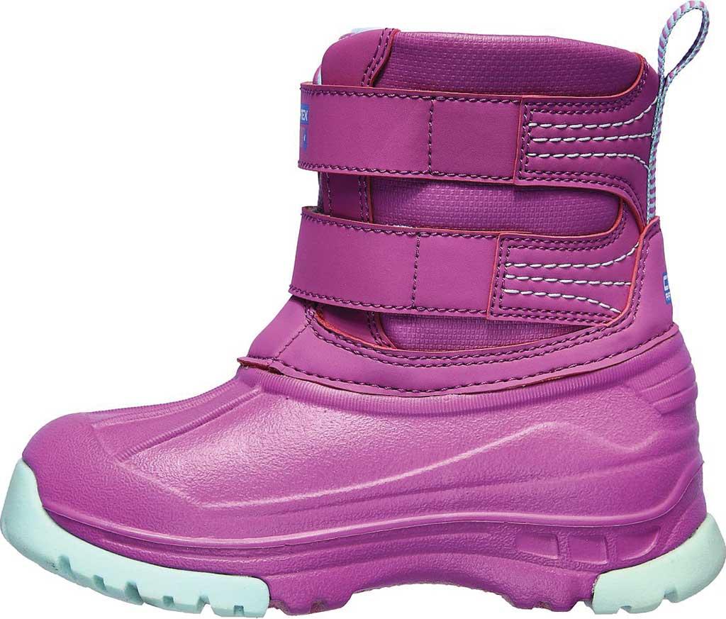 Infant Girls' Skechers Snow Slopes Rainier Days Waterproof Boot, Purple/Aqua, large, image 3