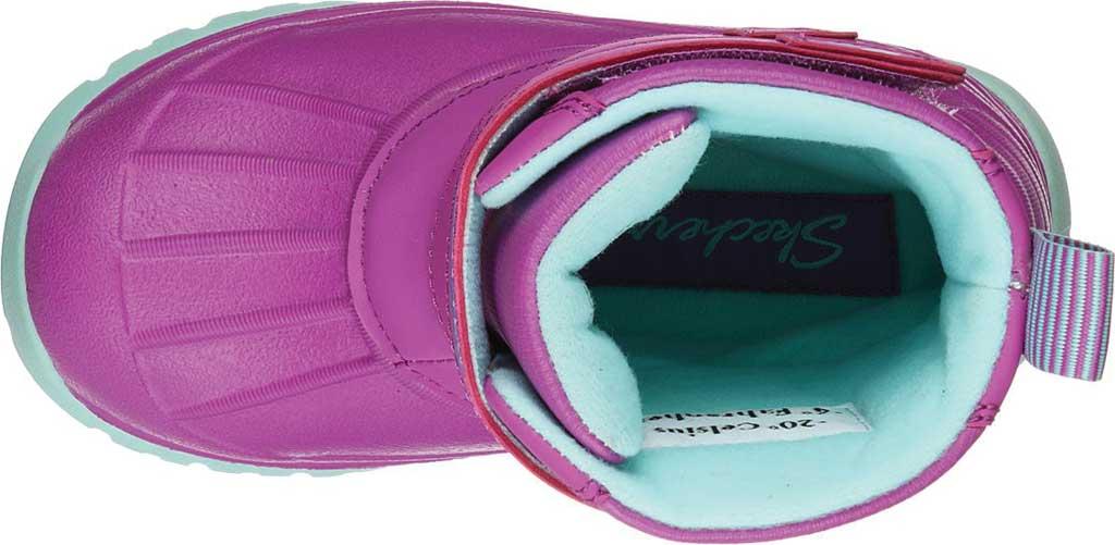 Infant Girls' Skechers Snow Slopes Rainier Days Waterproof Boot, Purple/Aqua, large, image 4