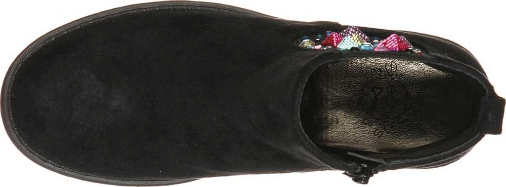 Girls' Skechers Mad Dash Sassy Sparkles Ankle Bootie, Black, large, image 4