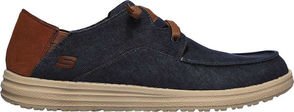 Men's Skechers Relaxed Fit Melson Planon Moc Toe Slip On, Navy, large, image 2