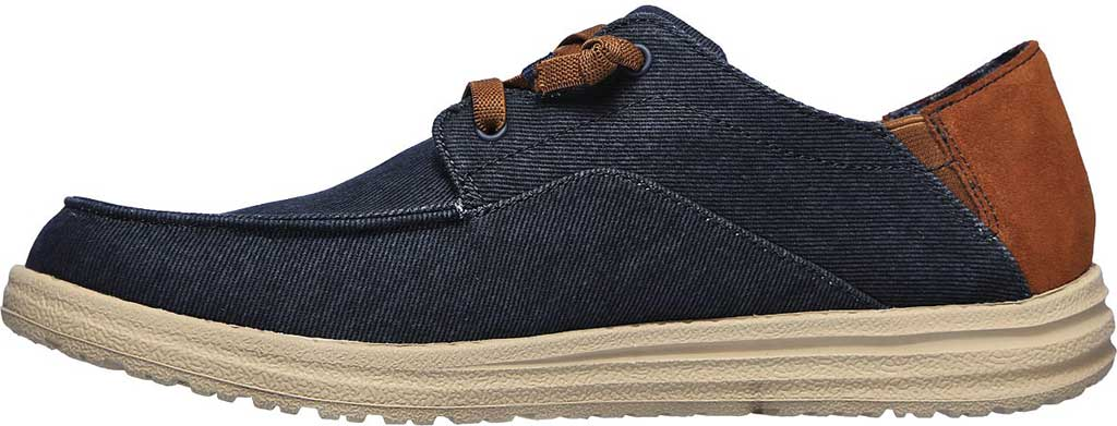 Men's Skechers Relaxed Fit Melson Planon Moc Toe Slip On, Navy, large, image 3