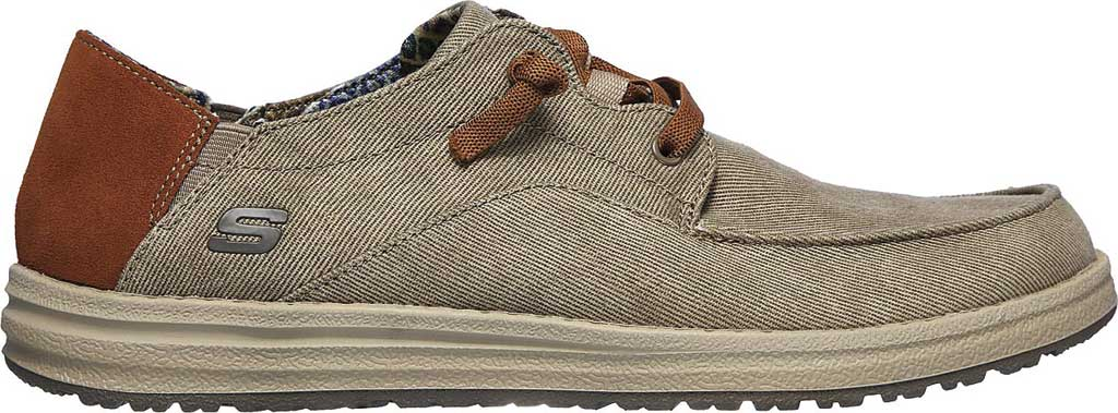 Men's Skechers Relaxed Fit Melson Planon Moc Toe Slip On, Taupe, large, image 2