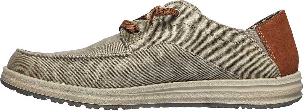 Men's Skechers Relaxed Fit Melson Planon Moc Toe Slip On, Taupe, large, image 3