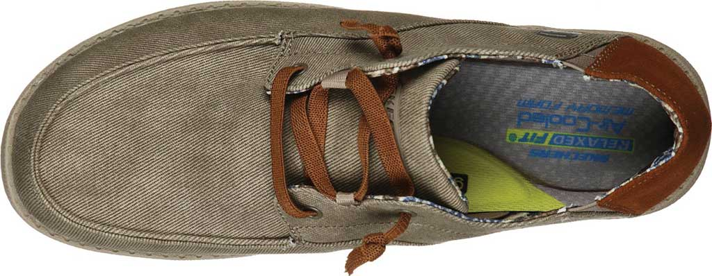 Men's Skechers Relaxed Fit Melson Planon Moc Toe Slip On, Taupe, large, image 4