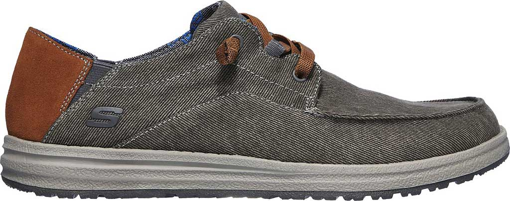 Men's Skechers Relaxed Fit Melson Planon Moc Toe Slip On, Charcoal, large, image 2
