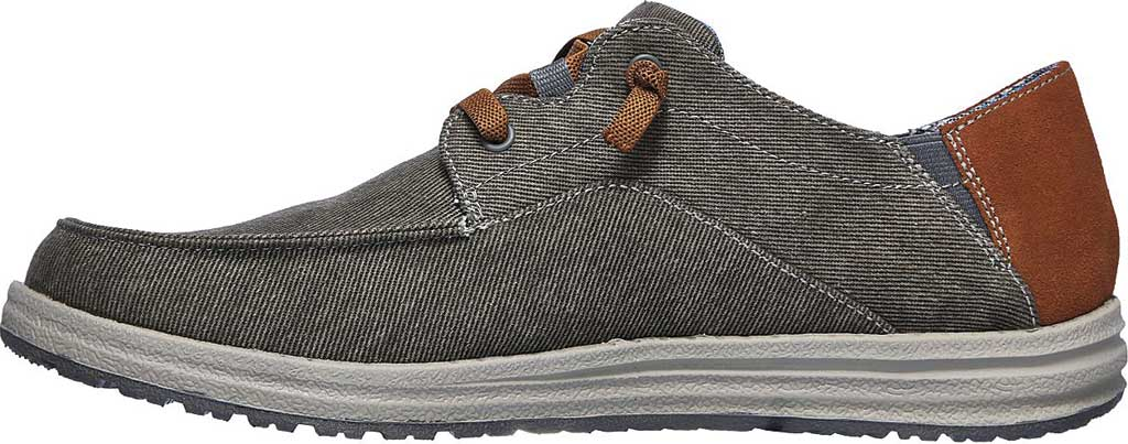Men's Skechers Relaxed Fit Melson Planon Moc Toe Slip On, Charcoal, large, image 3