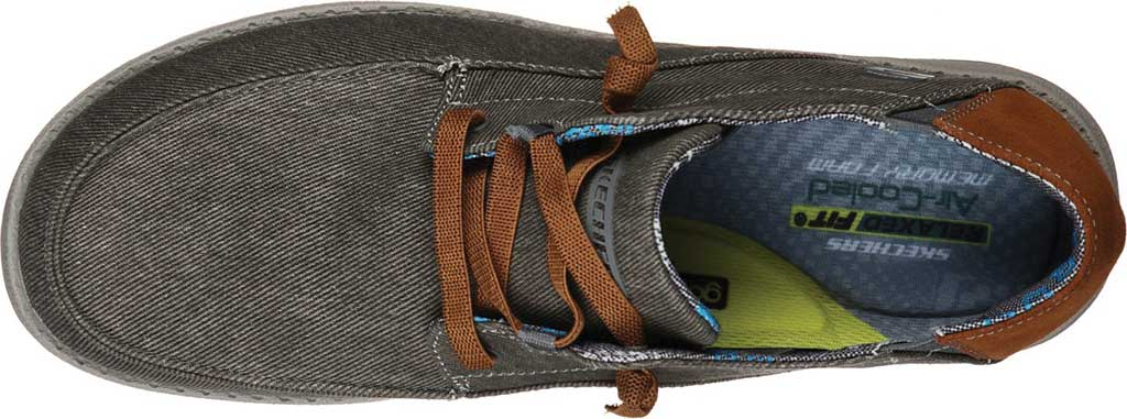 Men's Skechers Relaxed Fit Melson Planon Moc Toe Slip On, Charcoal, large, image 4