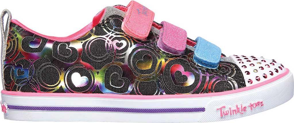 Girls' Skechers Twinkle Toes Sparkle Lite Heartsland Sneaker, Black Multi, large, image 2