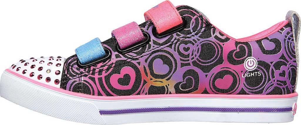 Girls' Skechers Twinkle Toes Sparkle Lite Heartsland Sneaker, Black Multi, large, image 3