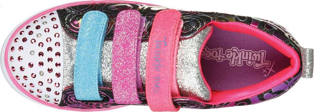 Girls' Skechers Twinkle Toes Sparkle Lite Heartsland Sneaker, Black Multi, large, image 4