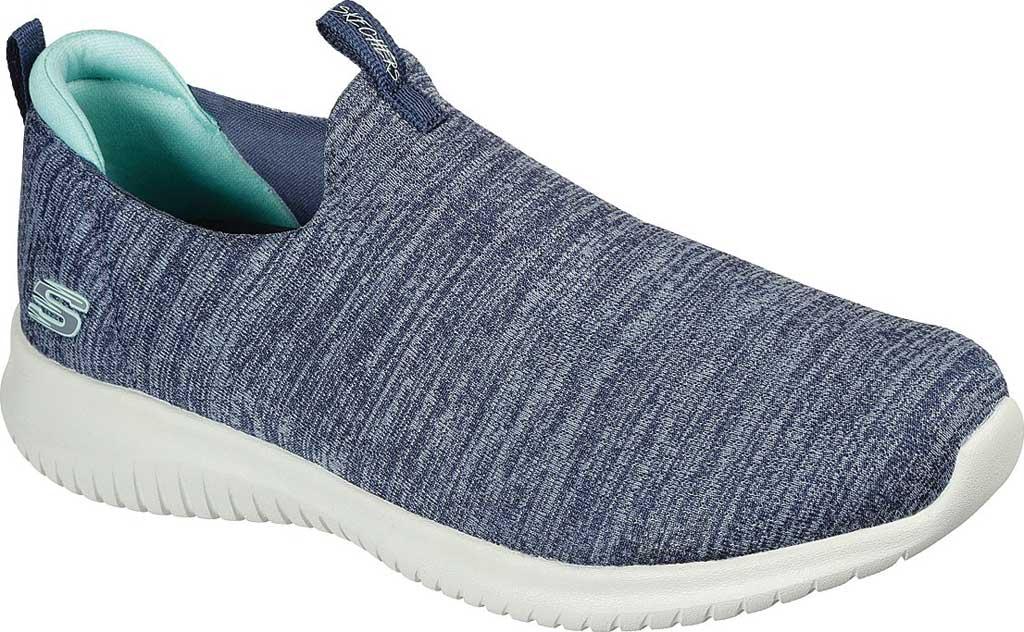 Women's Skechers Ultra Flex-Gracious Touch Slip On Sneaker, Slate, large, image 1