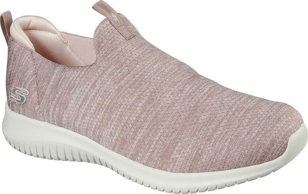 Women's Skechers Ultra Flex-Gracious Touch Slip On Sneaker, Rose, large, image 1