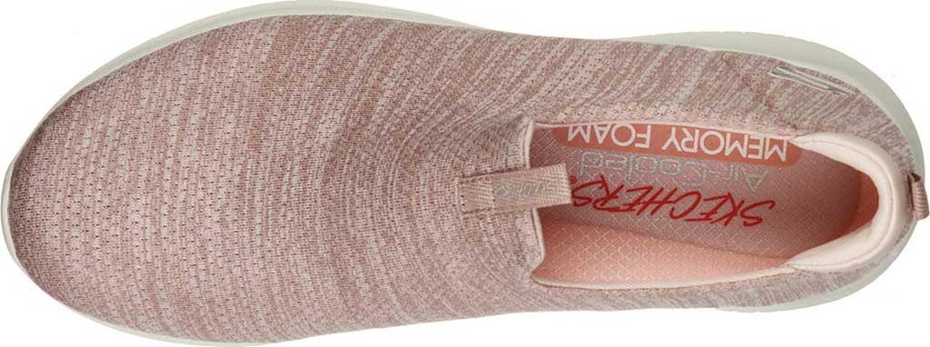 Women's Skechers Ultra Flex-Gracious Touch Slip On Sneaker, Rose, large, image 4
