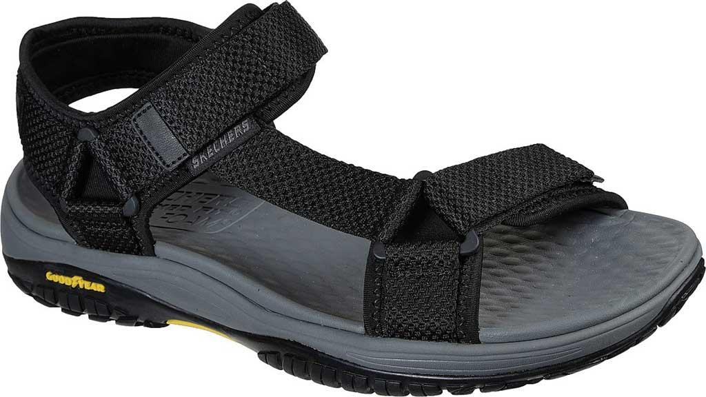 Men's Skechers Relaxed Fit Lomell Rip Tide Active Sandal, Black, large, image 1