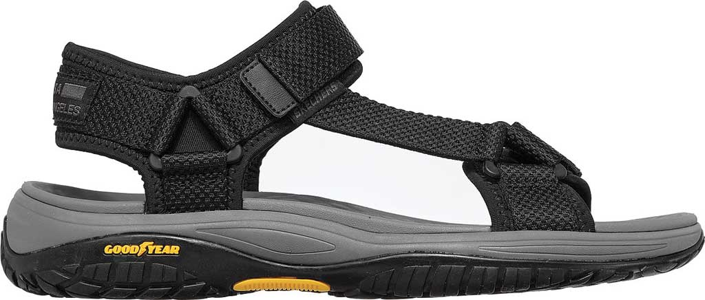 Men's Skechers Relaxed Fit Lomell Rip Tide Active Sandal, Black, large, image 2