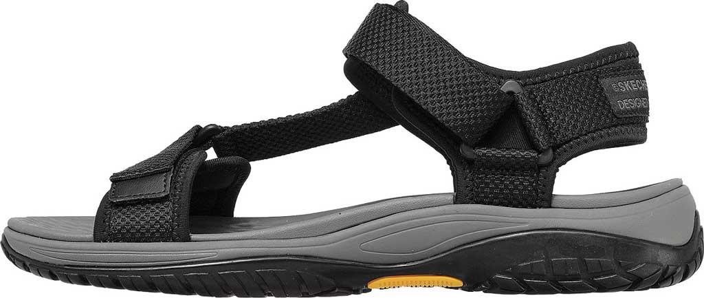 Men's Skechers Relaxed Fit Lomell Rip Tide Active Sandal, Black, large, image 3