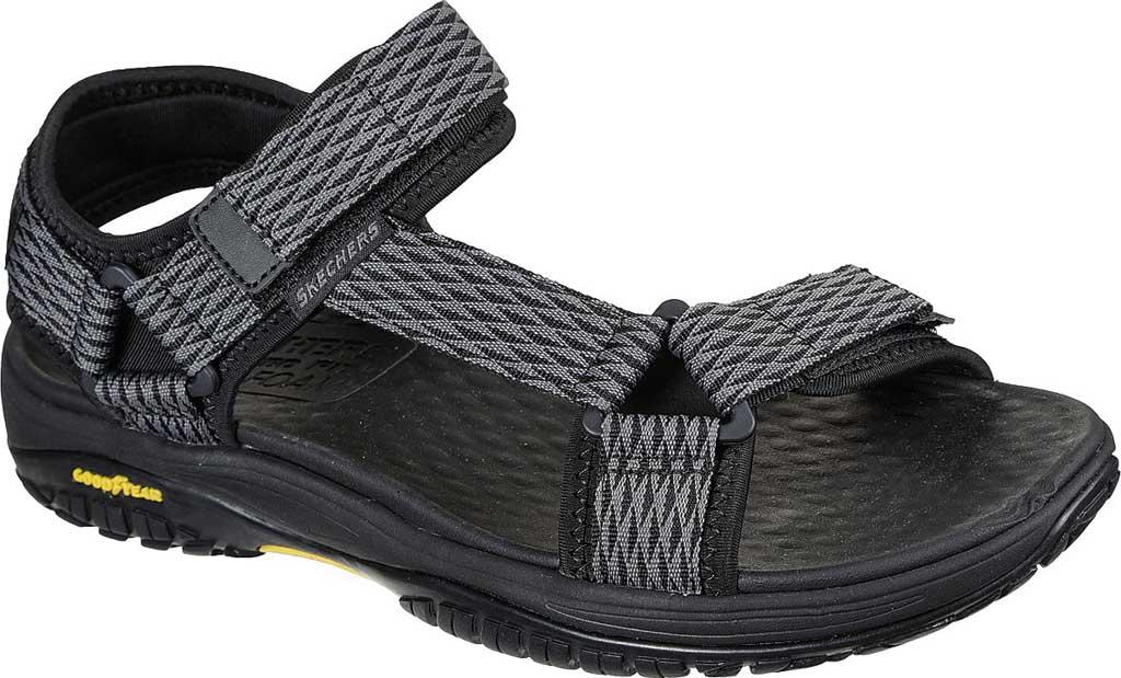 Men's Skechers Relaxed Fit Lomell Rip Tide Active Sandal, Grey/Black, large, image 1
