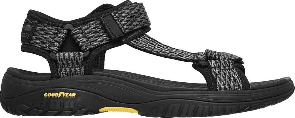 Men's Skechers Relaxed Fit Lomell Rip Tide Active Sandal, Grey/Black, large, image 2