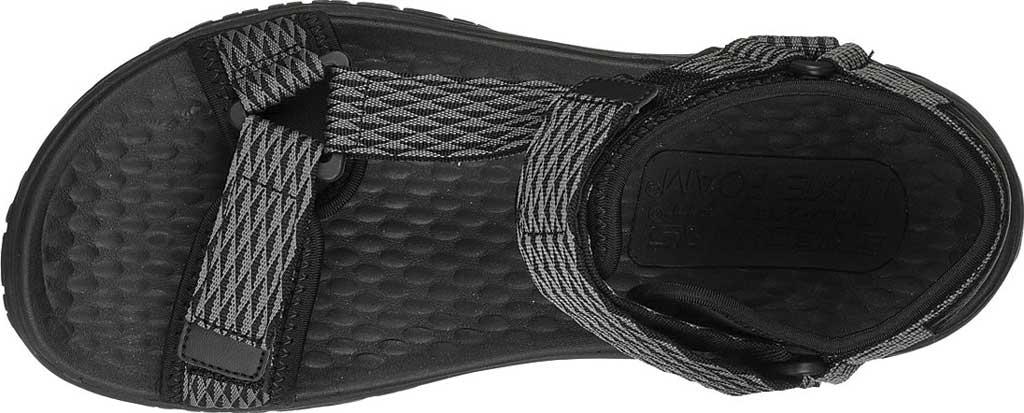 Men's Skechers Relaxed Fit Lomell Rip Tide Active Sandal, Grey/Black, large, image 4