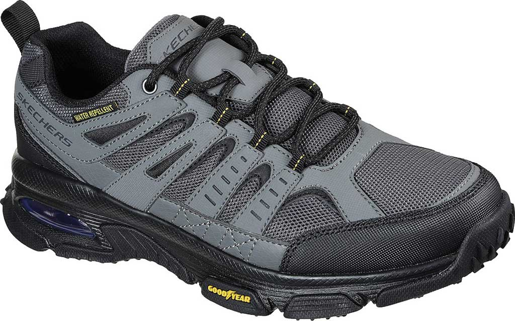 Men's Skechers Skech Air Envoy Hiking Sneaker, Gray/Black, large, image 1